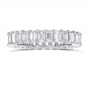 Platinum Emerald-Cut Diamond Full Eternity Band Ring, SKU 289162 (3.47Ct TW)