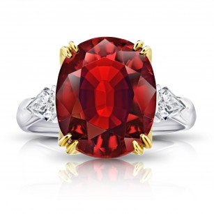 6.66 carat Oval Red Spinel and Diamond Ring, SKU 28920V (7.46Ct TW)