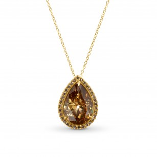 Fancy Deep Orange Brown Pear Shape Diamond Pendant., SKU 28984V (4.46Ct TW)