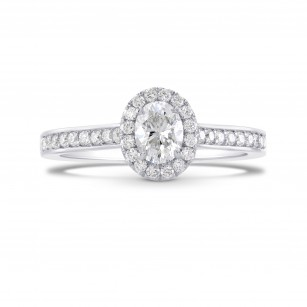 Oval Diamond Halo Ring, SKU 289925 (0.76Ct TW)