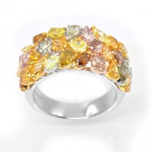 Fancy Color Diamond Couture Designer Ring, SKU 29002 (4.27Ct TW)