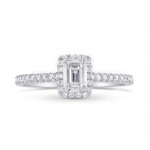 Emerald-Cut Diamond Halo Ring, SKU 290259 (0.72Ct TW)