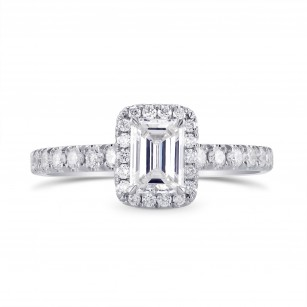 Emerald-cut Diamond Halo Engagement Ring, SKU 290260 (1.18Ct TW)