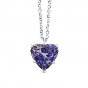Tanzanite Heart Solitaire Pendant, SKU 291242 (3.70Ct)