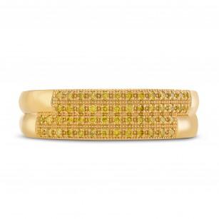 Gents Fancy Intense Yellow Diamond Band Ring, SKU 291795 (0.30Ct TW)