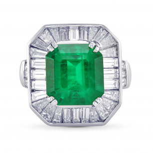 Exceptional Emerald and Diamond Couture Ring, SKU 29380V (7.10Ct TW)
