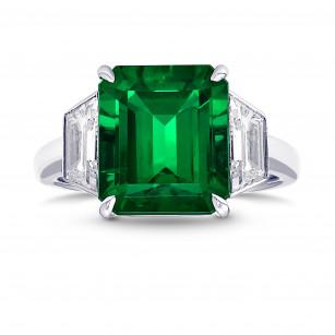 Extraordinary Emerald and Diamond 3 Stone Ring., SKU 29398V (4.99Ct TW)