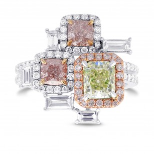 'Stepping Stones' Extraordinary Designer Diamond Ring, SKU 294665 (2.49Ct TW)