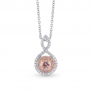 Fancy Brownish Pink Round Diamond Drop Pendant, SKU 295237 (0.43Ct TW)
