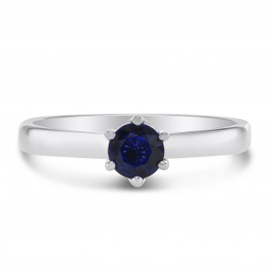Classic Blue Sapphire Brilliant  Solitaire Ring, SKU 299219 (0.57Ct)