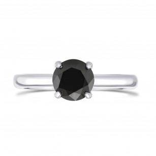 Round Black Diamond Solitaire Ring, SKU 299237 (1.41Ct)