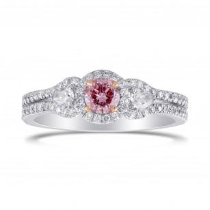 Fancy Intense Purplish Pink Diamond 3 Stones Ring, SKU 299638 (0.64Ct TW)