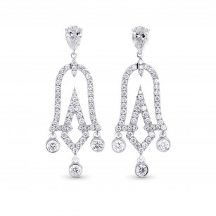Chandelier Pear Shape Drop Earrings, SKU 302695 (1.79Ct TW)