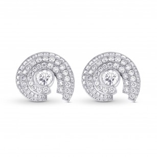 White Round Brilliant Halo Stud Earrings, SKU 303542 (1.60Ct TW)