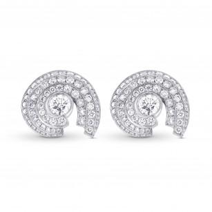White Round Brilliant Halo Stud Earrings, ARTIKELNUMMER 303542 (1,60 Karat TW)