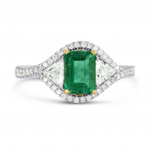 Green Emerald and Diamond Dress Halo Ring, SKU 26452R (1.76Ct TW)