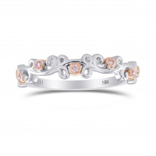 Fancy Pink Brilliant cut  Band Ring, SKU 306213 (0.09Ct TW)