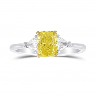 Fancy Intense Yellow 3 Stones Ring, SKU 306499 (1.25Ct TW)