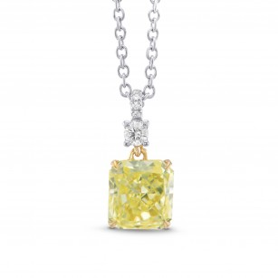 Fancy Yellow Radiant Drop Pendant, SKU 306509 (1.05Ct TW)