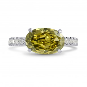 Horizontally-set Diamond Side Stone Ring Setting, SKU 3110S