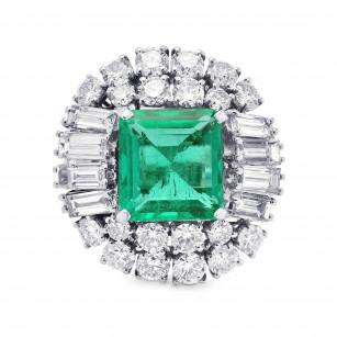 Extraordinary Emerald shape Emerald and Diamond Ring, SKU 313167 (9.69Ct TW)