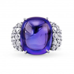 Extraordinary Cabochon Tanzanite and Diamond Ring, SKU 313173 (51.73Ct TW)