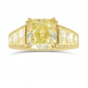 Fancy Light Yellow Trapezoid Side Stone Ring, SKU 317576 (5.32Ct TW)