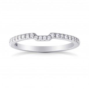 Contoured Half Eternity Diamond Wedding Band Ring, SKU 32465 (0.22Ct TW)