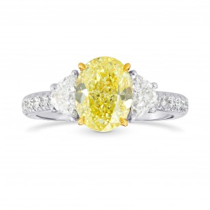 Half Moon & Pave Diamond Side-stone Ring Setting, SKU 3248S