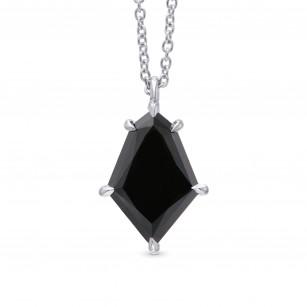 Natural Unheated Black Diamond Kite Shaped Solitaire Pendant, SKU 325824 (2.34Ct)