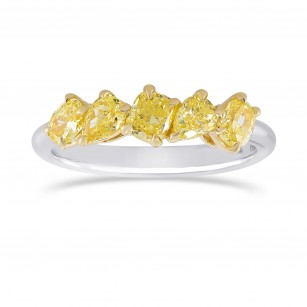 Fancy Yellow Mix Shape Band Ring, SKU 328342 (1.08Ct TW)