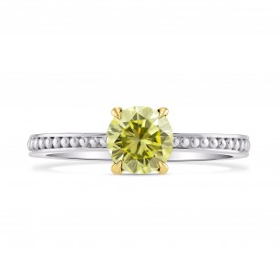 Solitaire Ring Setting with Beaded Shank, SKU 3300S