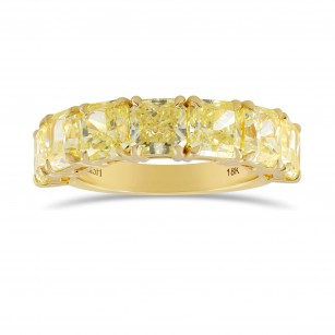 Fancy Light Yellow Radiant Diamond Band Ring, SKU 332897 (6.12Ct TW)