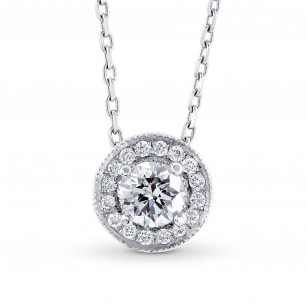 Collection White Round Brilliant Diamond Halo Pendant, SKU 33330 (0.41Ct TW)