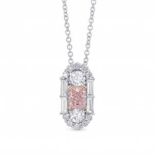 Extraordinary Fancy Light Pink Diamond Art Deco Pendant, SKU 342862 (1.30Ct TW)
