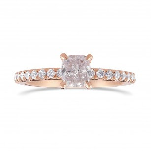 Very Light Pink Cushion Diamond Side Stone Ring, SKU 344453 (0.84Ct TW)
