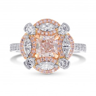 Extraordinary Fancy Light Pink Radiant Diamond Ring, SKU 344807 (1.86Ct TW)