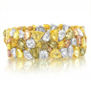 Multicolor Couture Rosecut Diamond Bracelet, 54.84ct 112 stones set in 18K Gold, SKU 34830 (54.84Ct TW)