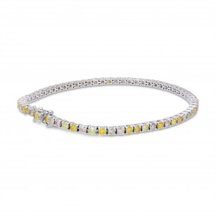 Mix Color Round Brilliant Tennis Bracelet, SKU 352519 (3.31Ct TW)