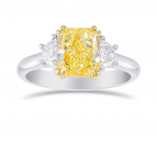 Fancy Light Yellow Radiant 3 Stones Diamond Ring, SKU 356444 (2.44Ct TW)