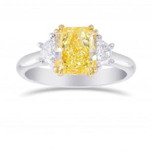 Fancy Light Yellow Radiant 3 Stones Diamond Ring, SKU 356444 (2.44Ct TW)