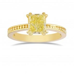 Fancy Light Yellow Princess Diamond Ring, SKU 368243 (1.15Ct)