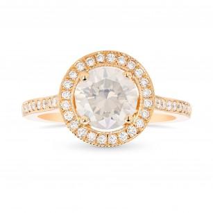 Rose Gold Fancy White Diamond Engagement Ring, SKU 369232 (1.56Ct TW)