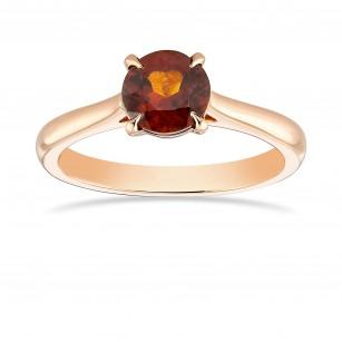 Round Garnet Brilliant Solitaire Ring, ARTIKELNUMMER 369257 (0,94 Karat)