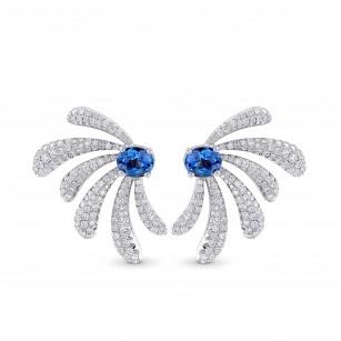 Aquamarine and Diamond Couture Earrings, SKU 381509 (2.71Ct TW)