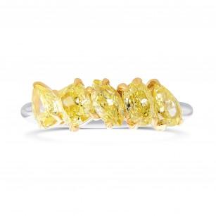 Fancy Yellow Mix shape Diamond Band Ring, SKU 385550 (1.46Ct TW)