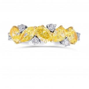 Fancy Yellow Mix and Collection Diamonds Band Ring, SKU 385571 (2.45Ct TW)