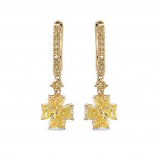 Fancy Yellow Heart shape Drop Diamond Earrings, ARTIKELNUMMER 385589 (2,83 Karat TW)