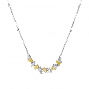 Fancy Yellow and Collection Mix Shape Diamond Necklace, ARTIKELNUMMER 386997 (2,80 Karat TW)