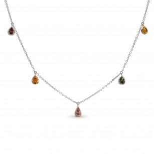 Mix Shape & Mix Color Diamond Necklace, SKU 397175 (0.88Ct TW)